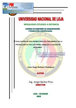 Ing. Jorge Barba Pino. - Repositorio Universidad Nacional de Loja