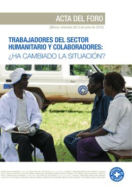 acta del foro - Médecins du Monde