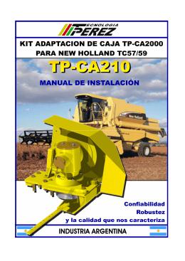 TP-CA 210 Plataforma NEW HOLLAND TC57/59