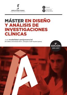 MÁSTER EN DISEÑO Y ANÁLISIS DE INVESTIGACIONES CLÍNICAS