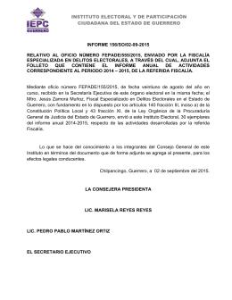 INSTITUTO ELECTORAL Y DE PARTICIPACIÓN CIUDADANA DEL