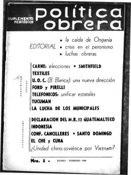 No. 5 (Enero - febrero 1966)