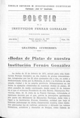 «Bodas de Plata» de nuestra Institución Fernán González