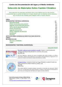 Selección de materiales sobre cambio climático