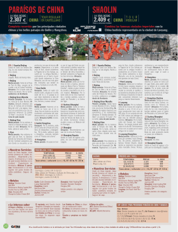 Folleto China y Japon 2011