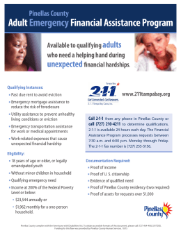 Adult Emergency Financial Assistance Program