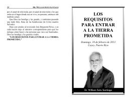 los requisitos para entrar a la tierra prometida