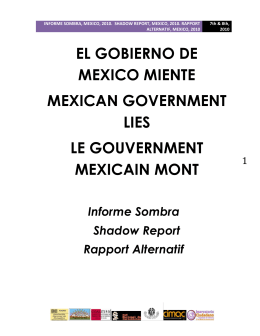 El gobierno de México miente