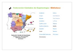 Federación Cántabra de Espeleología / Biblioteca