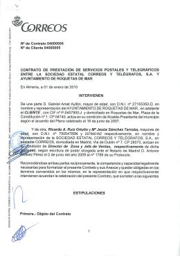contrato de prestación de servicios postales y telegráficos entre la