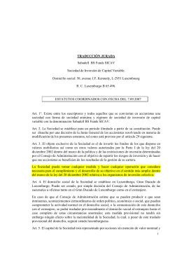 TRADUCCIÓN JURADA Sabadell BS Funds