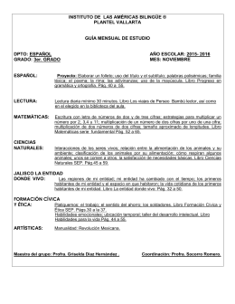 tercer grado - Instituto de las Américas Bilingüe Plantel Vallarta