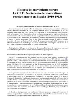 Nacimiento del sindicalismo revolucionario en España (1910