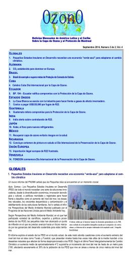 GLOBALES - Protocolo de Montreal