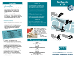 Certificación CTEF - D&B Tile Distributors