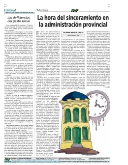 La hora del sinceramiento en la administración provincial