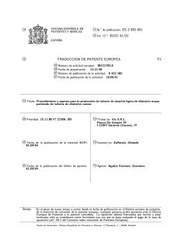 proceso y aparato para la produccion de cañeria de aleacion ligera