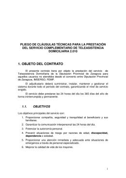 1. OBJETO DEL CONTRATO - Diputación Provincial de Zaragoza