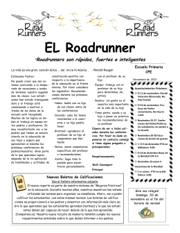 Roadrunner Newsletter November 2013 Spanish