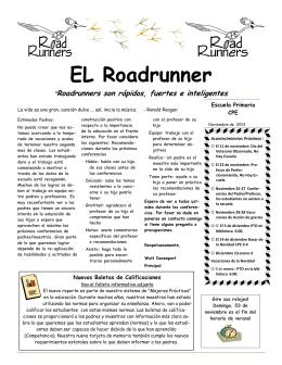 Roadrunner Newsletter November 2013 Spanish
