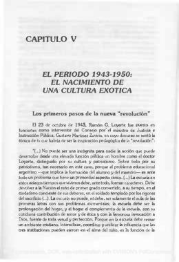 CAPITULO V EL PERIODO 1943
