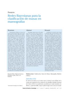Redes Bayesianas para la clasificación de masas en mamografías