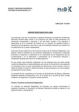 Circular 10/2010 - Bolsas y Mercados Españoles