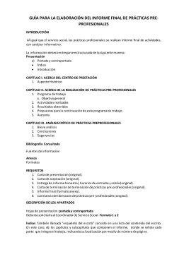 guía para la elaboración del informe final de prácticas pre