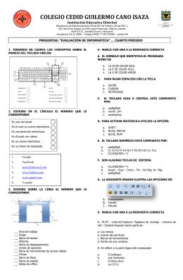 EVALUACION INFORMATICA 9 - 10 - 11