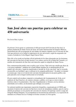 Presentación del 450 aniversario de SJ