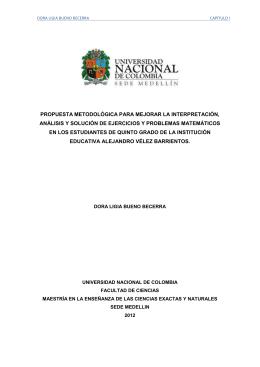 propuesta metodológica para mejorar la interpretación, análisis y