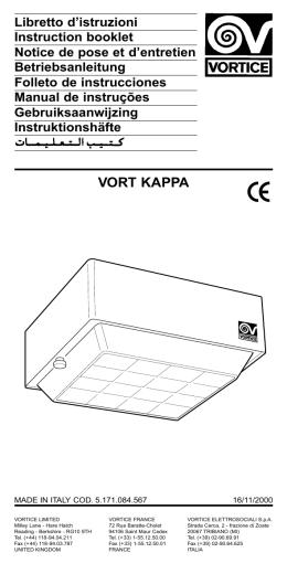 VORT KAPPA - Vortice France