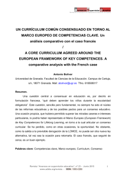 un currículum común consensuado en torno al marco