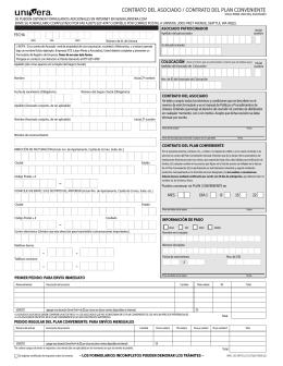 contrato del asociado / contrato del plan conveniente