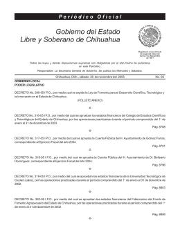26 de Noviembre del 2005 - Gobierno del Estado de Chihuahua