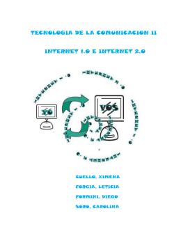 INTERNET 1.0 E INTERNET 2.0 - Página de Tecnología de la