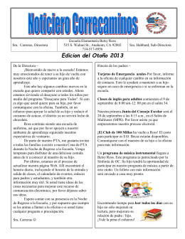 Edicion del Otoño 2013