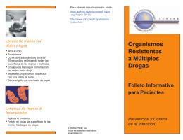 Organismos Resistentes a Múltiples Drogas