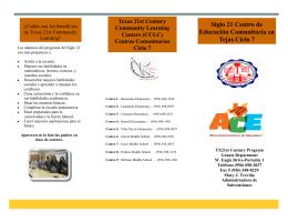 Siglo 21 Centro de Educación Comunitaria en Tejas Ciclo 7