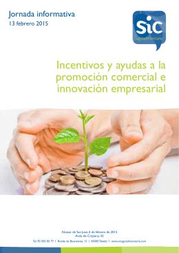 Incentivos y ayudas a la promoción comercial e innovación