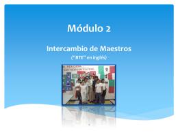 Módulo 2 Intercambio de Maestros