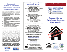 Estafas de Rescate Hipotecario - Community Legal Services of Mid
