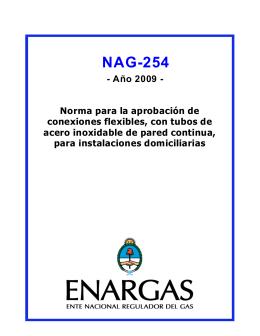 norma NAG-254 - Ente Nacional Regulador del Gas