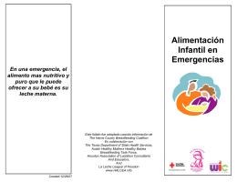 Alimentación Infantil en Emergencias