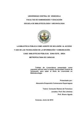 tesis completa - Saber UCV - Universidad Central de Venezuela