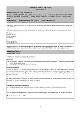 AHORRO BURSATIL, S.A., SICAV INFORMACIÓN SICAV
