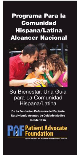 Programa Para la Comunidad Hispana/Latina Alcancer Nacional