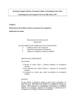 Baptista Lucio, Pilar Metodología de la Investigación. Mc Graw Hill, M