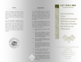 LEY IDEA 2004 - Desert / Mountain SELPA
