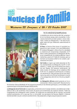 Misioneros SS. Corazones, nº ioneros SS. Corazones, nº 26 / 23